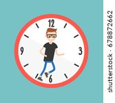 running out of time conceptual... | Shutterstock .eps vector #678872662
