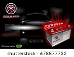 car battery ads template with... | Shutterstock .eps vector #678877732