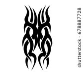 tattoo tribal vector design.... | Shutterstock .eps vector #678887728