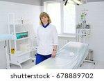 female doctor on operating... | Shutterstock . vector #678889702