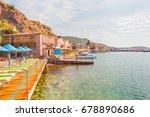 assos  behramkale  ancient... | Shutterstock . vector #678890686
