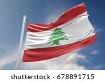 lebanon flag is waving at a... | Shutterstock . vector #678891715