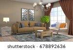 interior living room. 3d... | Shutterstock . vector #678892636