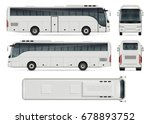 bus vector mock up for... | Shutterstock .eps vector #678893752