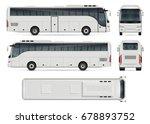 bus vector mock up for... | Shutterstock .eps vector #678893752