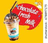 chocolate milk | Shutterstock . vector #678897175