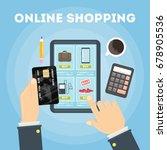 online shopping illustration. | Shutterstock .eps vector #678905536