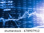 stock market or forex trading... | Shutterstock . vector #678907912