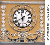 clock  zodiac signs and... | Shutterstock . vector #678911542