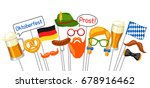 set of oktoberfest photo booth... | Shutterstock .eps vector #678916462
