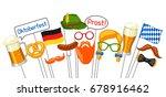set of oktoberfest photo booth... | Shutterstock .eps vector #678916462