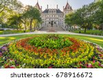 new york state capitol building ... | Shutterstock . vector #678916672