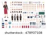 teacher character constructor.... | Shutterstock .eps vector #678937108