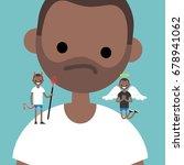 angel and devil. decision... | Shutterstock .eps vector #678941062