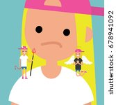 angel and devil. decision... | Shutterstock .eps vector #678941092