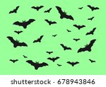 halloween bats isolated on... | Shutterstock .eps vector #678943846