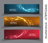 banner vector abstract blue... | Shutterstock .eps vector #678952666