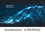 vector abstract blue motion... | Shutterstock .eps vector #678959032
