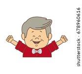 portrait happy grandfather man...   Shutterstock .eps vector #678960616