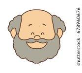 portrait happy grandfather man...   Shutterstock .eps vector #678960676