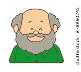 portrait happy grandfather man...   Shutterstock .eps vector #678960742