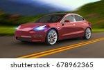 electric car 3d rendering | Shutterstock . vector #678962365