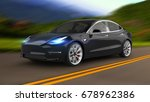 electric car 3d rendering | Shutterstock . vector #678962386