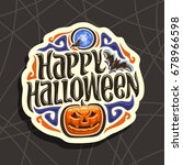 vector logo for halloween... | Shutterstock .eps vector #678966598