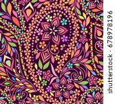 seamless colorful pattern with... | Shutterstock .eps vector #678978196