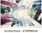 work on laptop. | Shutterstock . vector #678988366
