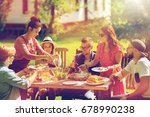 leisure  holidays  eating ... | Shutterstock . vector #678990238