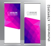 roll up business brochure flyer ...   Shutterstock .eps vector #678993952