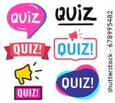 quiz. badge  icon  logo set.... | Shutterstock .eps vector #678995482