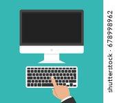 modern flat screen computer... | Shutterstock .eps vector #678998962