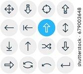 vector illustration of 16 sign... | Shutterstock .eps vector #679003648