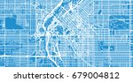vector city map of denver ... | Shutterstock .eps vector #679004812