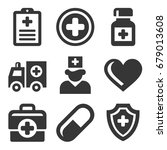 health care medical icons set.... | Shutterstock .eps vector #679013608
