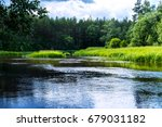 gauja river | Shutterstock . vector #679031182