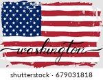 usa american flag grunge paint...   Shutterstock .eps vector #679031818