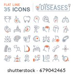 set vector line icons  sign and ... | Shutterstock .eps vector #679042465