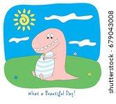hand drawn full colour vector... | Shutterstock .eps vector #679043008
