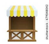 traditional fair market wooden... | Shutterstock .eps vector #679048042
