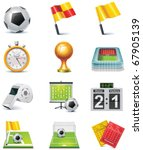 vector soccer icon set | Shutterstock .eps vector #67905139