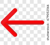 3d left arrow. 3d red arrow... | Shutterstock .eps vector #679052566