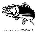 salmon fish.vintage salmon... | Shutterstock .eps vector #679056412