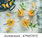 refreshing cold alcoholic... | Shutterstock . vector #679057072