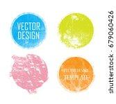 rubber stamp texture. grunge... | Shutterstock .eps vector #679060426