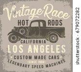 vintage pick up truck... | Shutterstock .eps vector #679072282