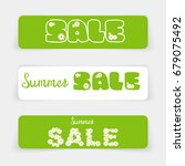 set of sale banners or website... | Shutterstock .eps vector #679075492