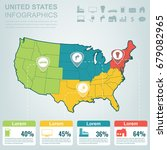 usa map with infographic... | Shutterstock .eps vector #679082965